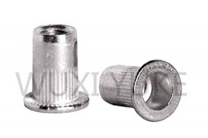 Open End Flat Head Knurled Body Blind Rivet Nut