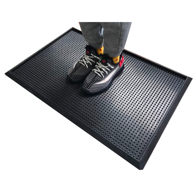 cheap rubber disinfection mat hot seller disinfecting door mat with tray shoes sanitizing floor mat Featured Image