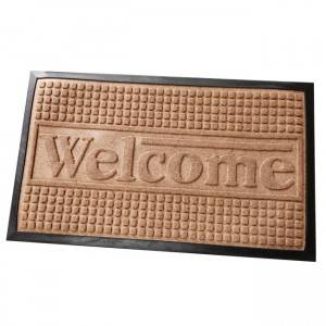 hot seller rubber disinfection doormat polyester surface disinfecting tray pp disinfection shoes mat
