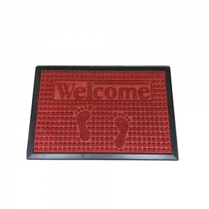 High quality rubber doormat pp surface floor mat with cheap price