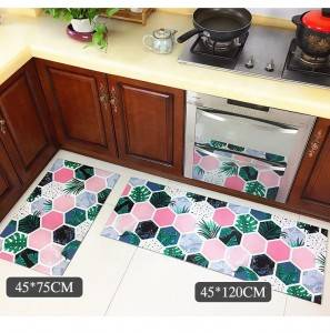 printed kitchen mat costom pvc anty-slip mat oil-proof floor mat