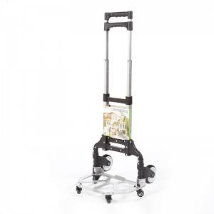 DuoDuo Folding luggage trolley  DX3005 with Additional 4 wheels