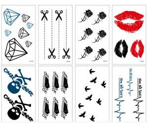 Customize all kinds of cool patterns, monochrome and multicolor cool tattoo stickers