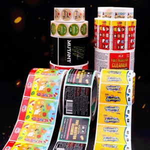 Customized pattern size roll sticker product sticker