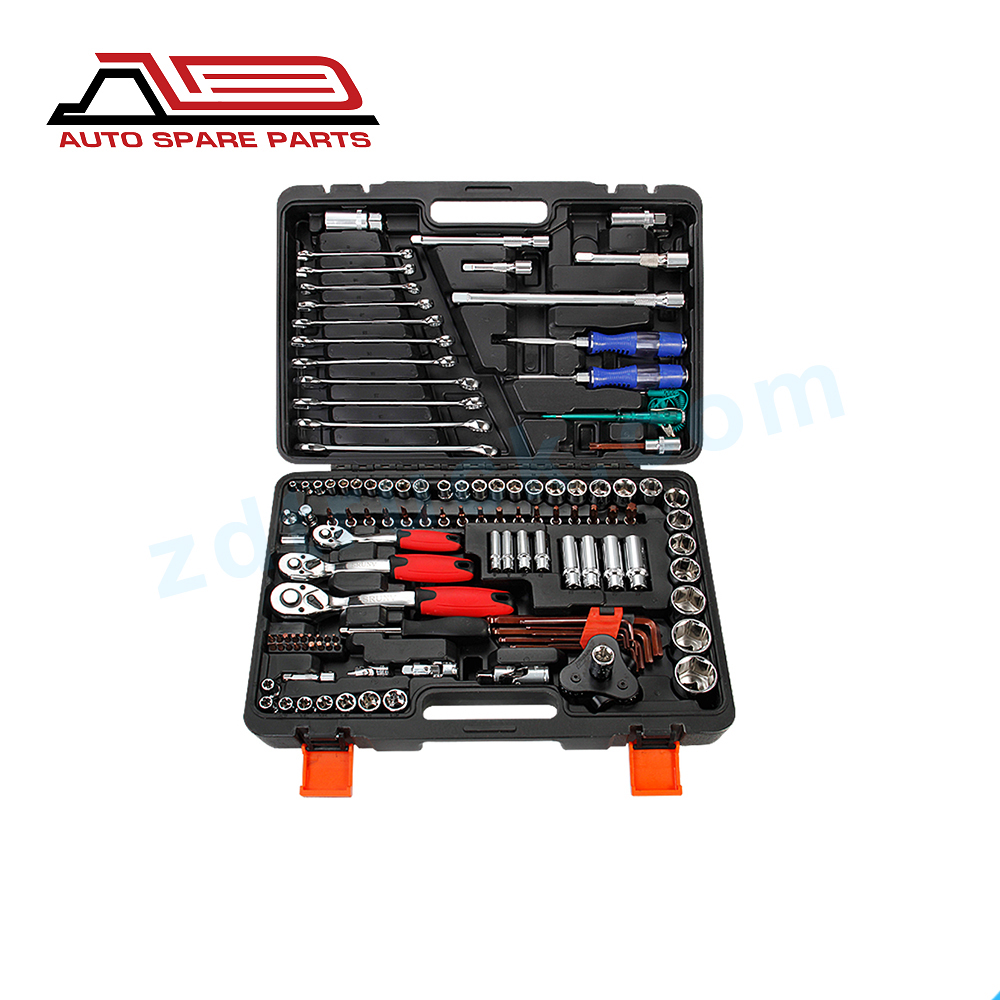 121PCS Kit Car Repair Sockets Set Hand Tool Sets Combination Socket Wrench Set with Plastic Toolbox