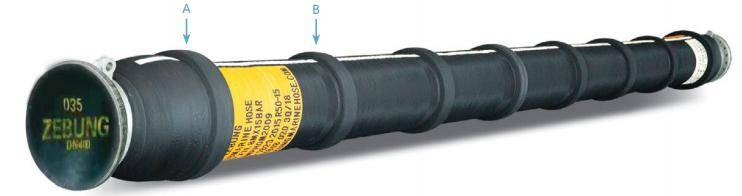 One End Reinforced Submarine Hose With Collars