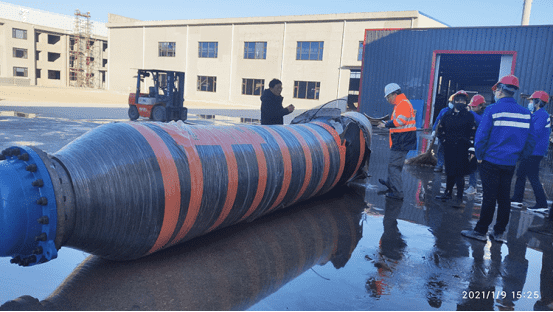 ZEBUNG approved the Burst Test for DN600 Floating Oil Hose in accordance with GMPHOM 2009