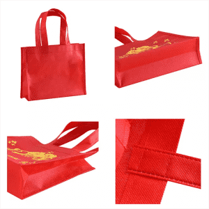 Stock Promotional Colored Non Woven Tote Shopping Bag