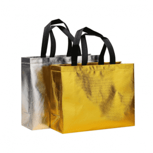 Customized Logo Printed Fashion Cheap Shopping Laminated Laser Non Woven Tote Bag