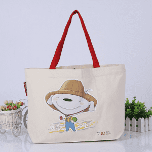 Promotional shopping gift advertisement 12oz cotton canvas tote bag with bottom gusset