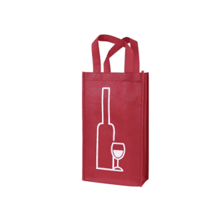 non woven wine bag for two wine bottles