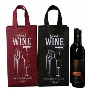 non woven wine bag for one wine bottles, two wine bottles