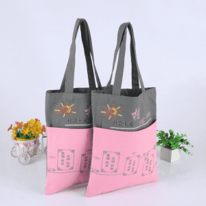 Wholesale organic 100% cotton custom printed tote canvas bag