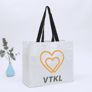 Eco-Friendly White Woven fabric  Nonwoven Carry Shopping Bag with Logo