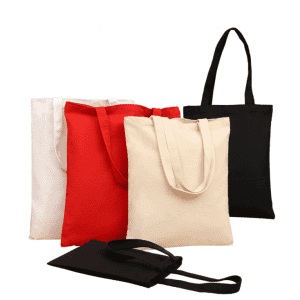 High-quality cotton full printing shopping canvas tote Bag with assorted color