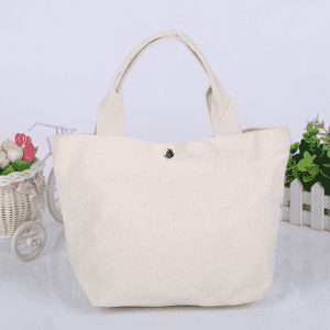 Heavy Duty Reusable Cotton Grocery Shopping Canvas Tote Bags with Bottom Gusset for DIY