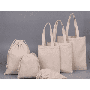Personalized Drawstring bag natural gift storage drawstring canvas bag