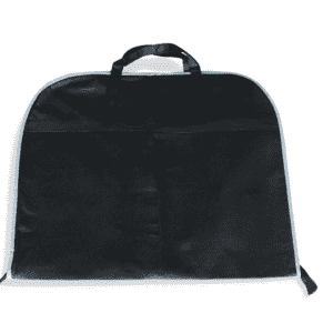 Custom Zipper Foldable Non Woven Foldable Suit Clothing Cover Bag Black Polypropylene Non Woven Garment Bag Wholesale