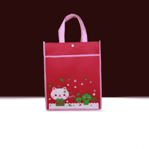 Promotional PP Reusable Eco-friendly Advertising Tote Red Non Woven Shopping Bag