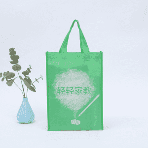 Eco Friendly Folding Reusable Non-woven Grocery Light Green Non Woven Shopping Bag Price