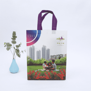 Heavy Duty Fabric Reusable Laminating Tote Carry Non Woven Shopping Bags With Custom Logos Printed