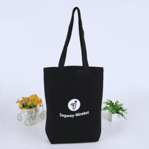 Foldable makeup shopping packaging natural black white cotton canvas tote bag with handle