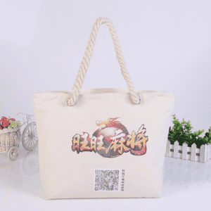 Coler 100% pure cotton canvas tote shopping bag with gusset and bottom