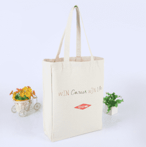 12oz Heavy Duty Eco Travel Bags Inside Brand Label Gusset Silkscreen Tote Bag Canvas Shopping Bag