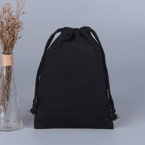 Personalized Custom high quality fashion cotton canvas drawstring bag