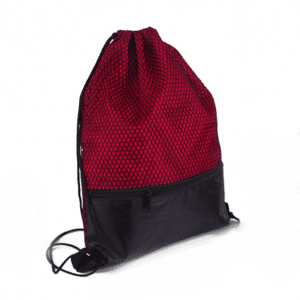 Mesh Polyester Bag mesh zipper bundle pocket Drawstring Backpack Bag 210D polyester bundle pocket customized polyester cloth bag custom logo