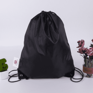 promotional custom logo drawstring backpack,polyester drawstring bag