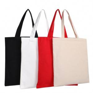 Custom Printed Colored Plain 100% Cotton Canvas Grocery Shopping Tote Bag