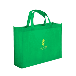 Custom logo print supermarket eco reusable green shopping tote Non woven bag