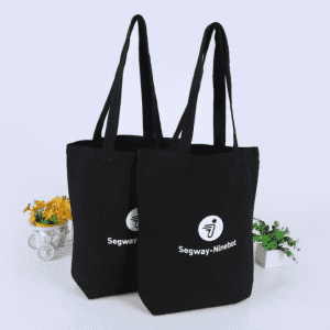 Customized high quality printed logo black Cotton Canvas Bags With Logo