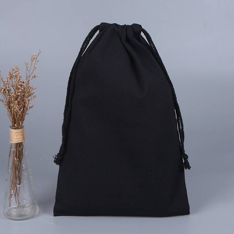 Personalized Custom high quality fashion cotton canvas drawstring bag Featured Image
