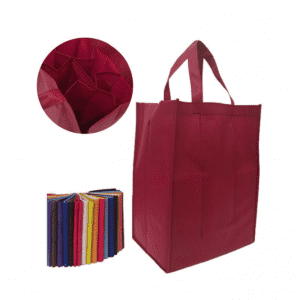 non woven wine bag for six wine bottles