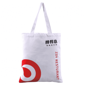Fashion OEM And ODM Two Handle Cotton Canvas Shopping Tote Bag with logo