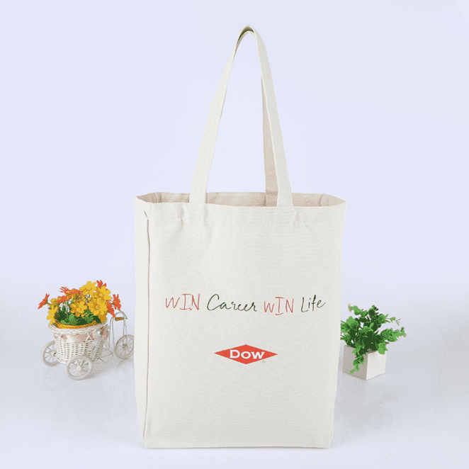 12oz Heavy Duty Eco Travel Bags Inside Brand Label Gusset Silkscreen Tote Bag Canvas Shopping Bag Featured Image
