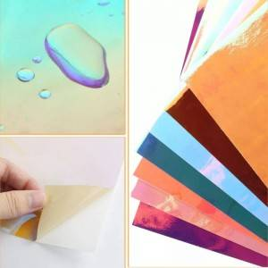 Rainbow Holographic Opal Craft self adhesive Vinyl 12″ x 12″ Sheets DIY sheets for plotter