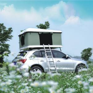 Hard top straight-up roof tent