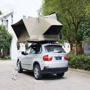 Hard top folding car roof tent