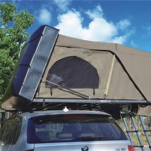 Hard top folding four-person roof tent