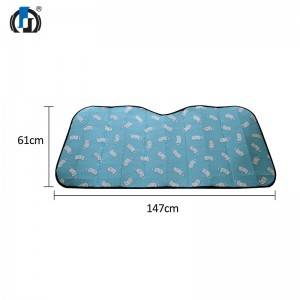 Bubble PE film sun shade with different patterns