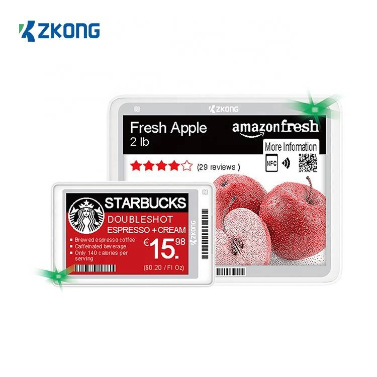 zkong digital price tag E-INK bluetooth 5.0 NFC electronic shelf label for retail sunpermarket Featured Image