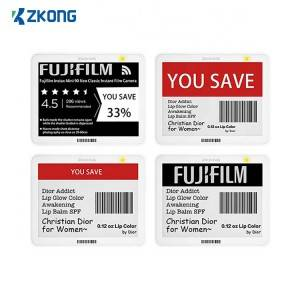 zkong digital price tag E-INK bluetooth 5.0 NFC electronic shelf label for retail sunpermarket