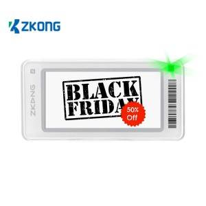 Zkong ESL digital shelf labels  e ink price tag for retail chain stores