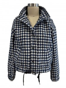 2021 modern fantasy plaid long sleeves jacket women wholesale