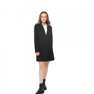 2020 modern flowing knee length faux wool long sleeves coat wholesale