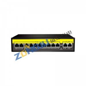 12 Port 10/100M ACTIVE POE Switch-(10+2) 1012B