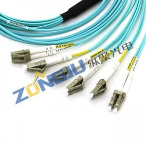 MPO To LC Duplex OM3 Duplex Patch Cord